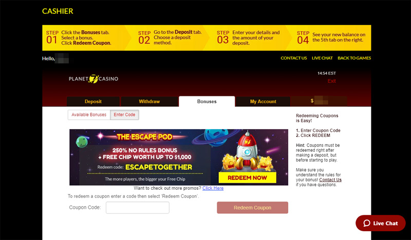 Top 7 Planet 7 Casino Coupon Codes Aug 2019
