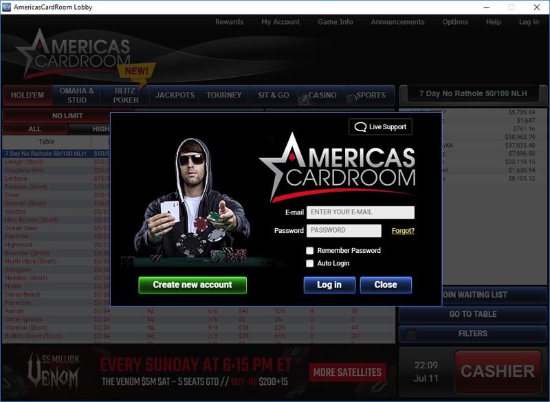 Americas Cardroom First Deposit Code Sep 2019