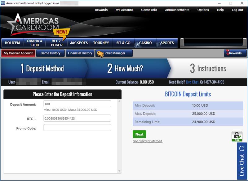 Acr reload deposit code