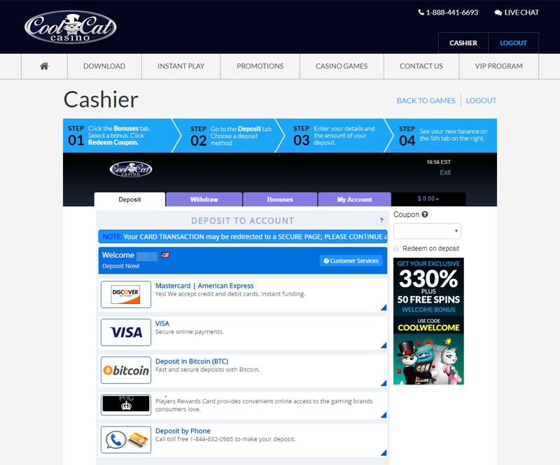 Cool Cat Casino No Deposit Bonus Codes and Welcome Bonuses