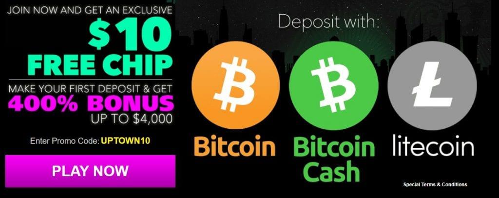 UPTOWN10 Deposit Bonus
