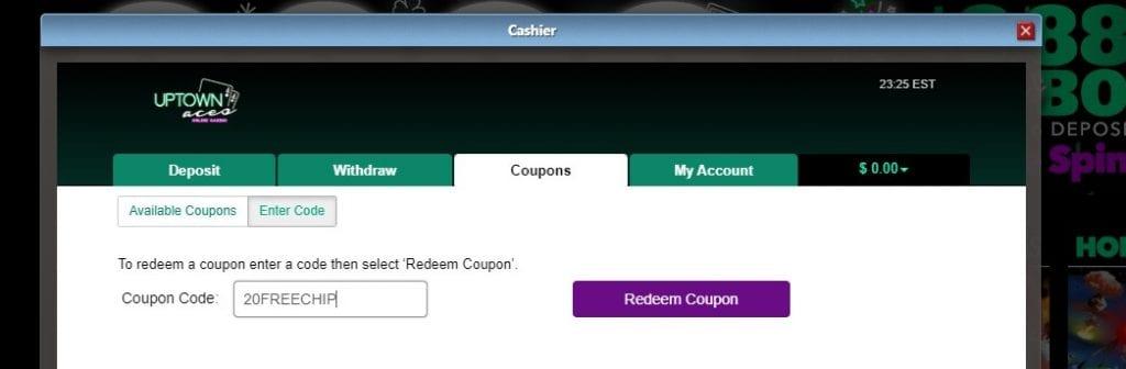 Redeem Bonus Code