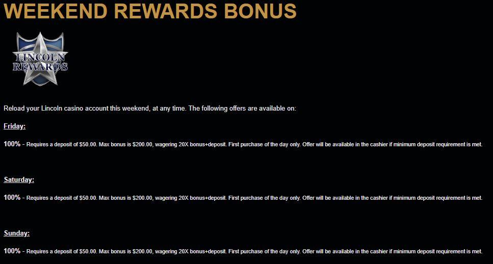 Lincoln Casino No Deposit Bonus Coupon Codes Aug 2020