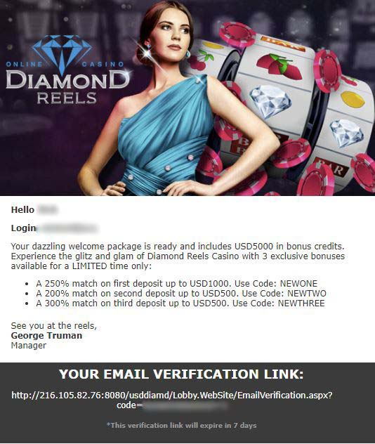 Diamond reels casino online